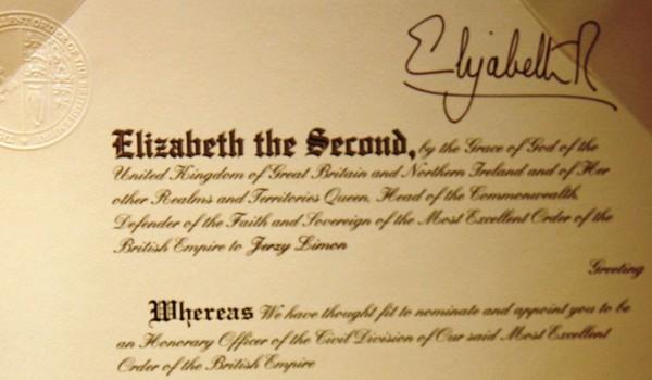 Order Imperium Brytyjskiego dla Jerzego Limona_fot. mat.pras. (3)