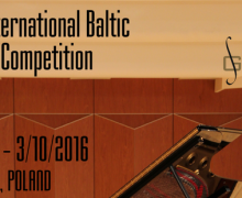 Międzynarodowy Bałtycki Konkurs Pianistyczny Gdańsk 2016, plakat